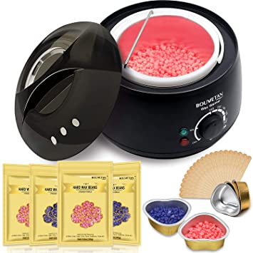 Amazon Com Waxing Kit 2 Leds Bouvetan Wax Warmer Hair Removal