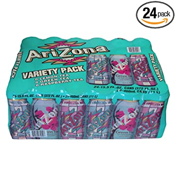 amazon com arizona iced tea variety pack 15 5 oz can pack of 24