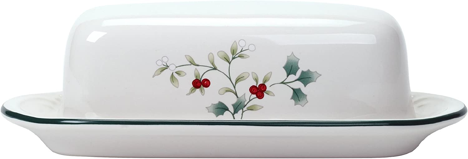 Pfaltzgraff Winterberry Covered Butter Dish Dinnerware Set, Assorted