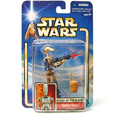 Star Wars Attack of The Clones (AOTC) Action Figure- Battle Droid Arena Battle: Toys & Games