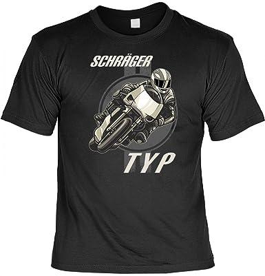 T-Shirt für Biker und Chopper - Schräger Typ - mit Urkunde für Motorrad  Fahrer