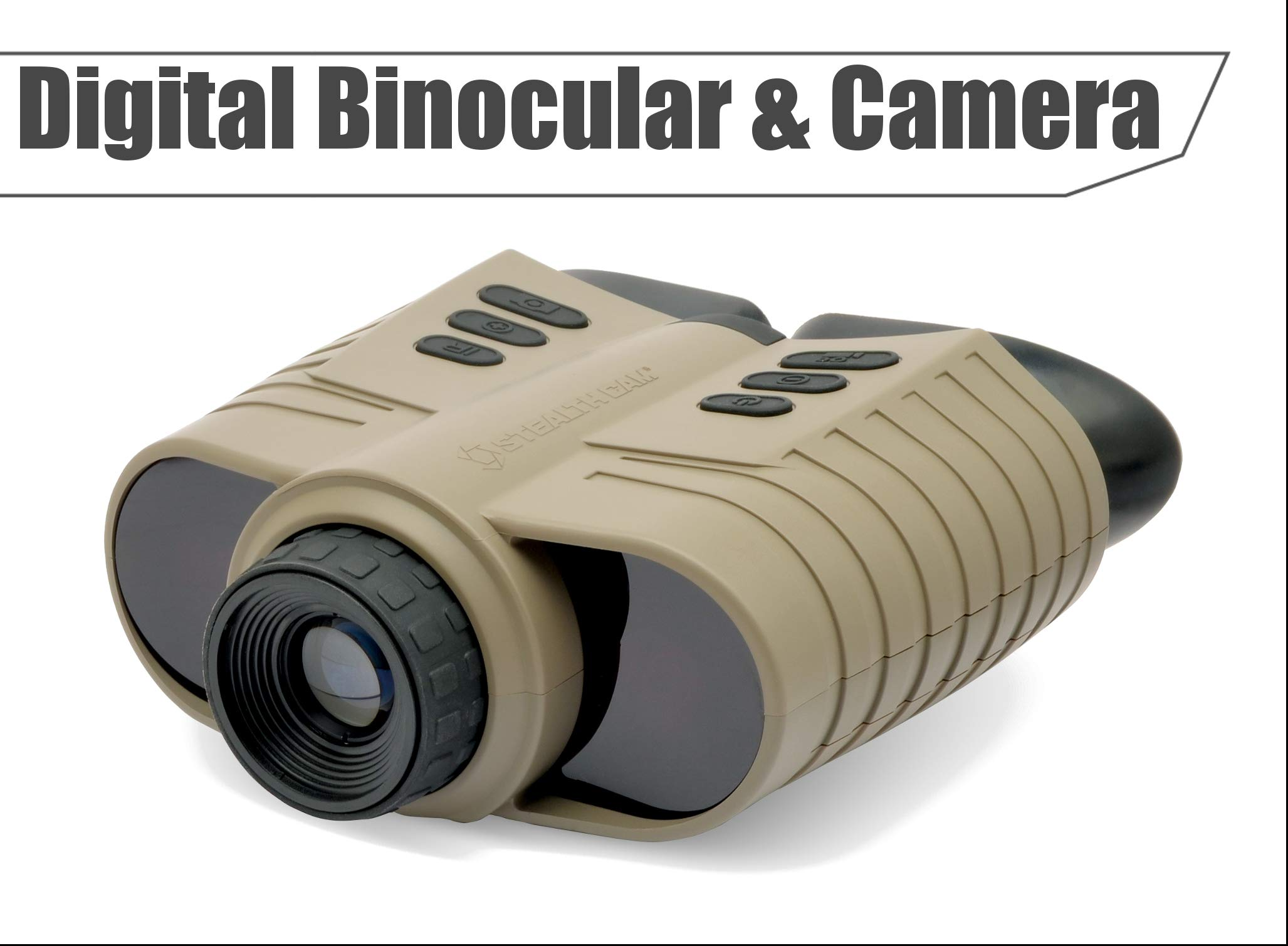 Stealth Cam Digital Night Vision Binoculars & Camera- Capture Images and Video by Stealth Cam