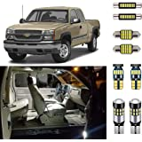 AUTOGINE 12 Piece White Interior LED Lights kit for Chevrolet Chevy Silverado/GMC Sierra 1999 2000 2001 2002 2003 2004 2005 2