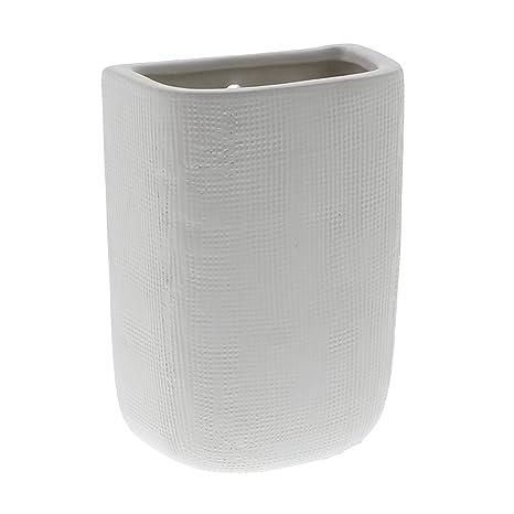 Amazon Ceramic White Tall Wall Pocket Vase Set 6 Decorative