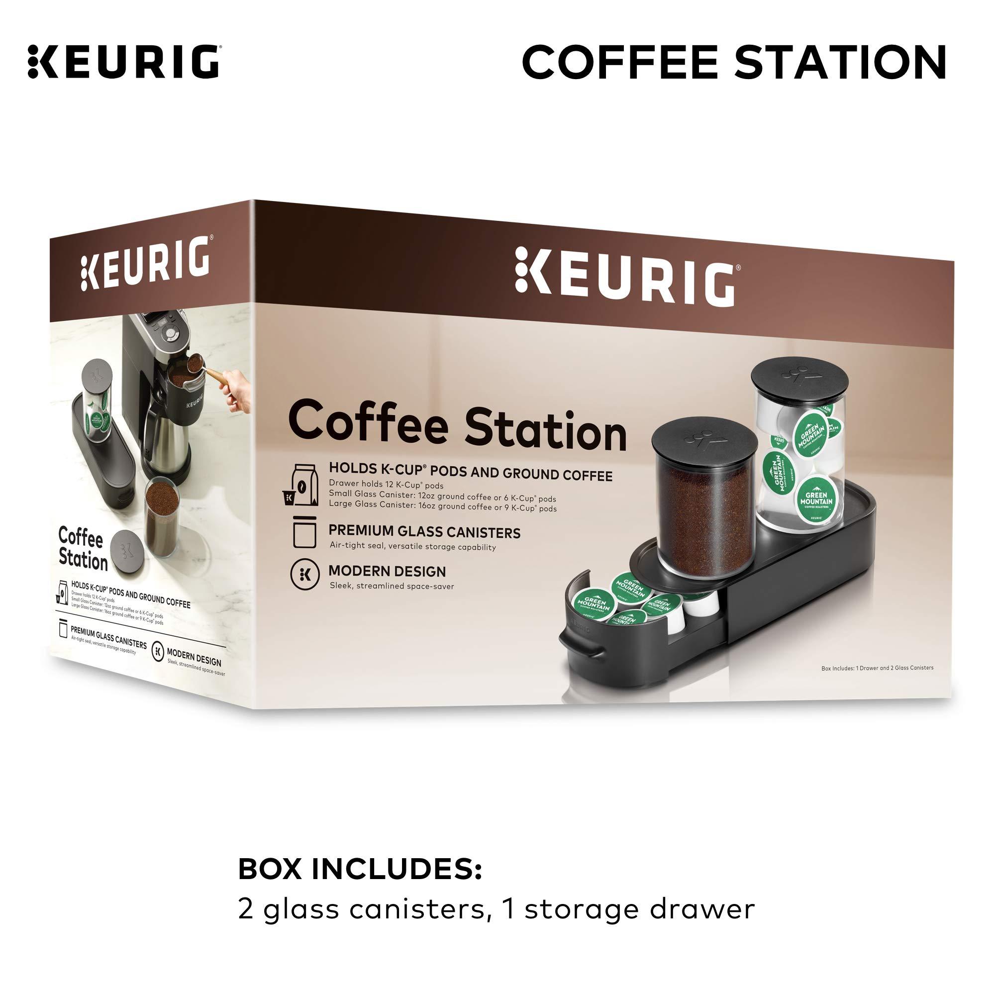 Keurig K-Cup Pod & Ground Coffee Storage Unit, Coffee Storage, Holds up to 12 ounces of Ground Coffee & 12 K-Cup Pods, Black by Keurig