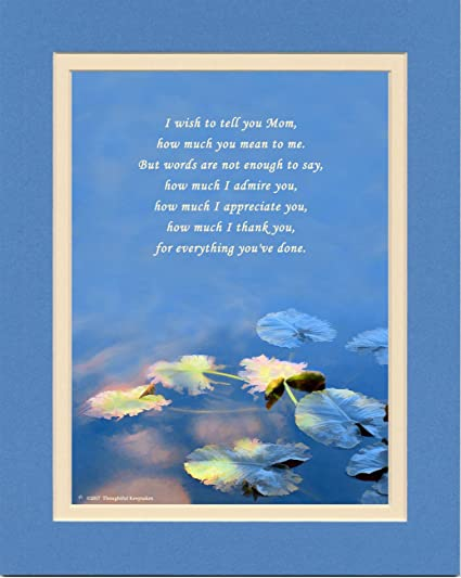 Amazon Mom Gift With How Much You Mean To Me Poem Water Lily
