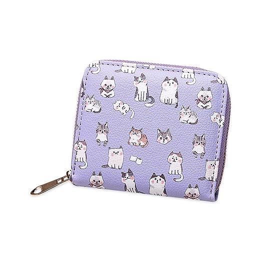 Women PU Leather Rivet Short Wallet Zipper Coin Clutch Card Holder Purse Bag QL