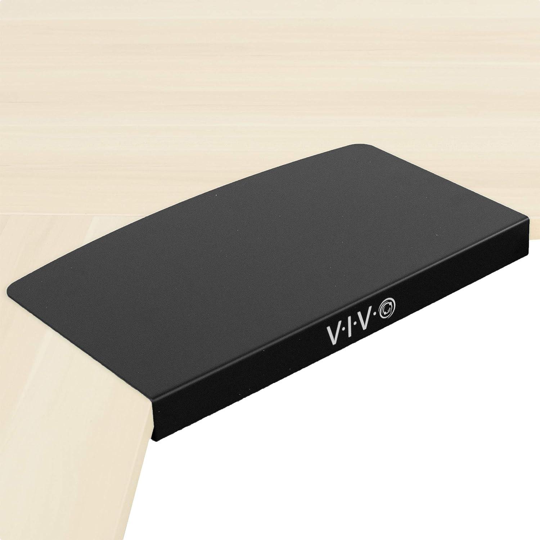 VIVO 17 inch Corner Desk Connector Platform for Mounting Under-Desk Keyboard Trays on L-Shaped Workstations, Black (DESK-AC07S)