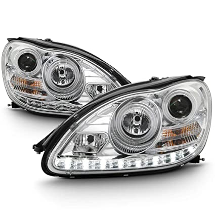 Acanii For Hid Model Only 2000 2006 Mercedes Benz W220 S Class Led Drl Chrome Housing Projector Headlights Headlamps