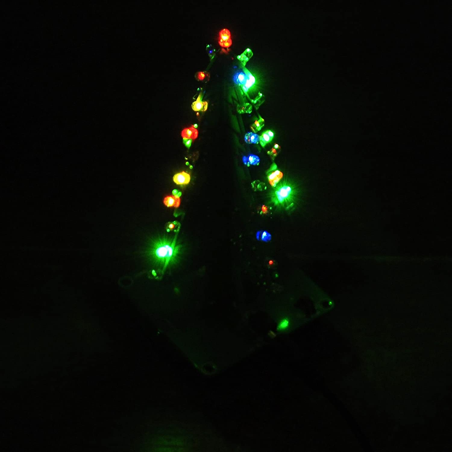 Gikfun 3d Xmas Tree Led Diy Kits 7 Color Flash Circuit Our Two Series Circuits Each Containing 2 Ek1697 Electronics