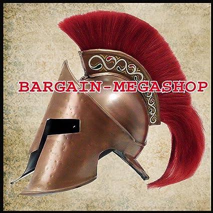 Medieval King Leonia del casco Romano Helm Casco de Espartano 300 película w/rojo Plum