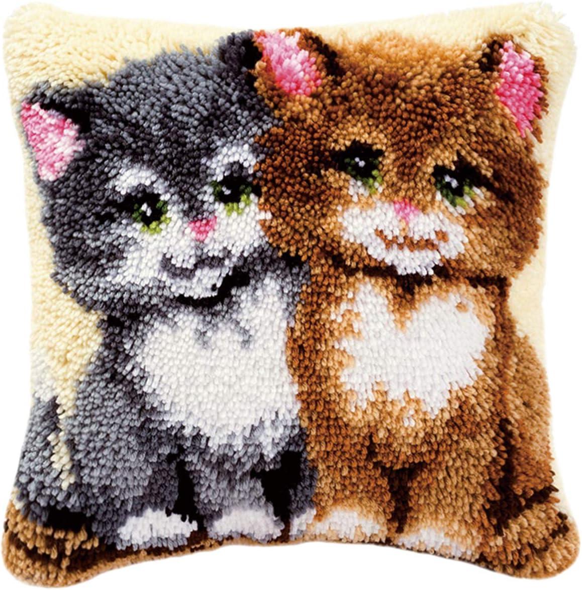 Latch Hook Kits DIY Tools Crocheting Rug Shaggy Decoration and Activity 19.7 X 19.7,c
