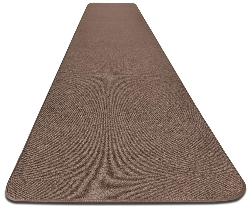 House, Home and More Outdoor Carpet Runner - Brown - 3 Feet x 15 Feet