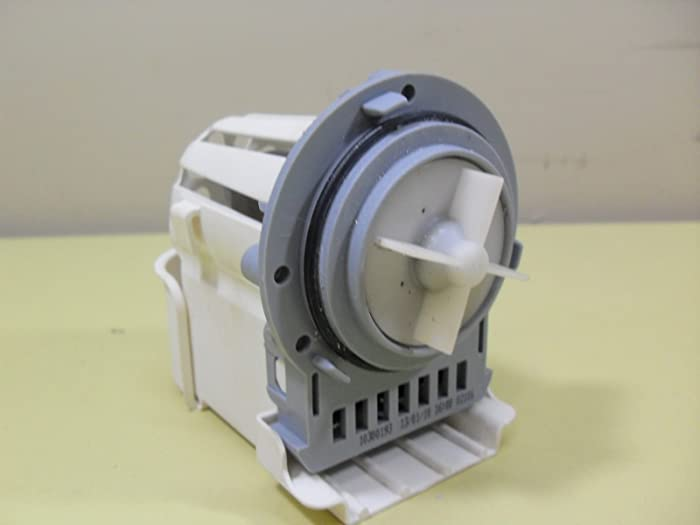 ASKOL fits WHIRLPOOL KENMORE DUET WASHER WATER PUMP MOTOR Mod: M75 461970228511 ONLY MOTOR, 4 Blades included, Same block terminal, rubber ring included,