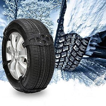 FancyU 8PCS Cadenas de Nieve para neumáticos, Poliuretano y Cuerda de Nylon Cadenas de Nieve