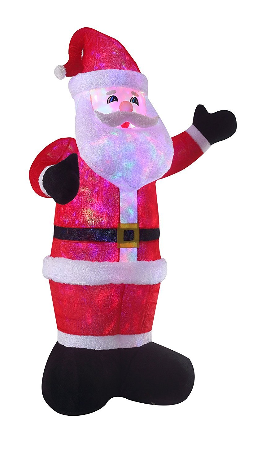 New 8 FT Inflatable Plush Santa Clause With 2pcs Disco Lights Christmas X'mas Decoration by Beyond Shop USA (Image #3)