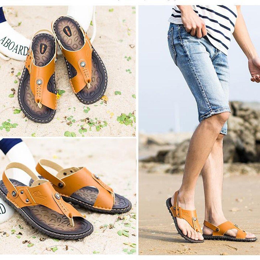 QIDI Sandalen Sommer Männlich Strand Blau Braun Gelb Rutschfeste Strand Männlich Schuhe Hausschuhe (Farbe : Gelb, größe : EU39/UK6.5) Gelb c6722c
