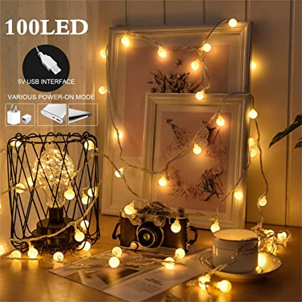 100 LED Globe String Lights, Ball Christmas Lights, Indoor / Outdoor  Decorative Light, - Amazon.com: 100 LED Globe String Lights, Ball Christmas Lights