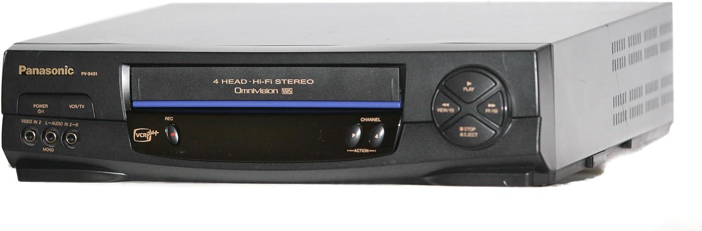 B009W8FSV2 Panasonic PV-9451 Hi-Fi Stereo VCR with VCR Plus+ 71P02zyTv-L
