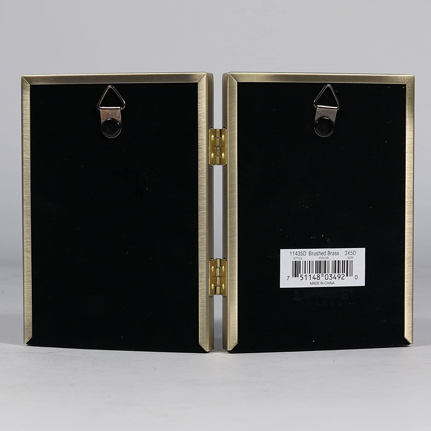 3.5 by 5-Inch Lawrence Frames 11435D Antique Gold Bead Hinged Double Picture Frame