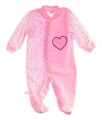 56 62 68 74 80 86 Baby Strampler mit Fuß Einteiler Schlafanzug Gr