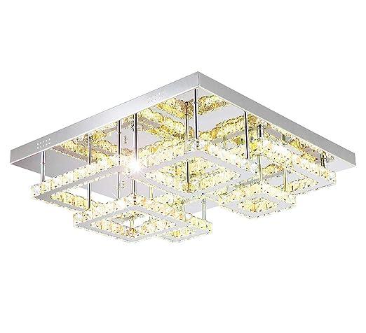 XL lámpara LED Lámpara de techo plafón Cristal regulable ...