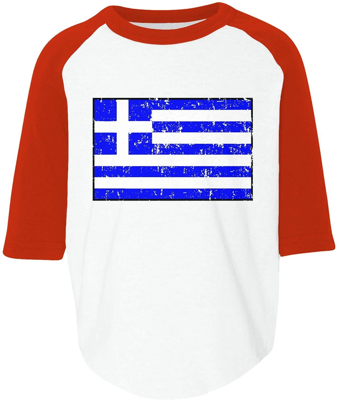 Amdesco Greece Flag Greek Toddler Raglan Shirt