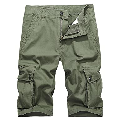 0c0d682a4217 MUST WAY Men's Lightweight Classic Fit Cotton Twill Quick Dry Cargo Shorts  Outdoor Wear: Amazon.co.uk: Clothing