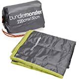 Bundle Monster Waterproof Picnic Beach Outdoor Large Camping Mat Pad Blanket with Draw String Carrying Tote