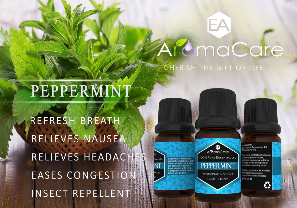 Aromatherapy Essential Oils Gift Set in a EXCLUSIVE WHITE BOX (Lavender, Peppermint, Lemongrass, TeaTree, Eucalyptus, Bergamot) FREE Essential Oil Pendant and ebook by EA AromaCare (Image #3)