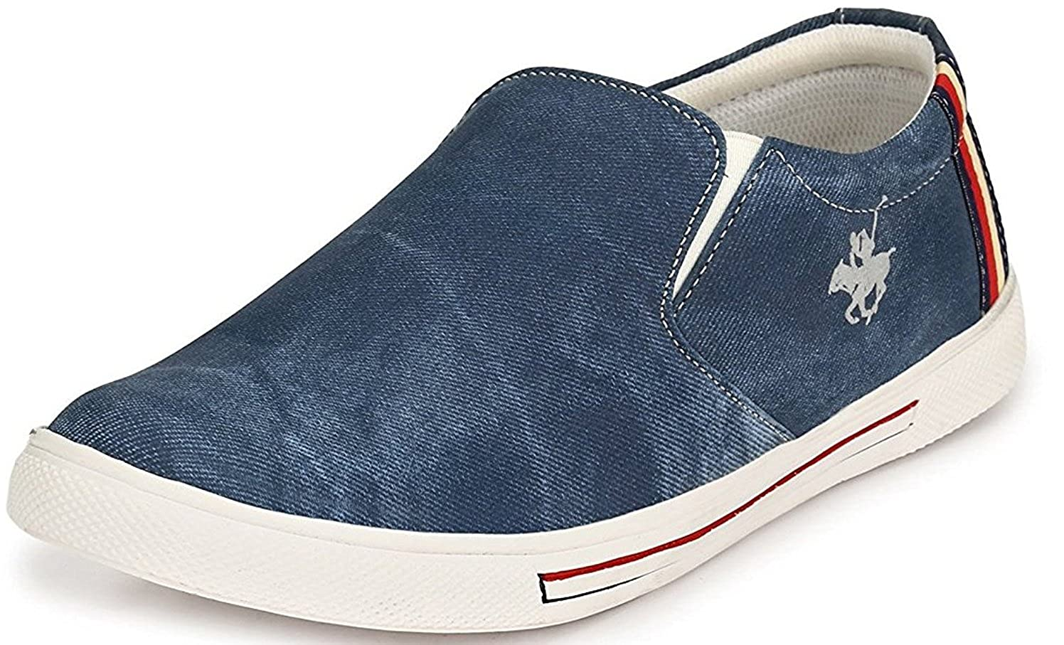 Blue Denim Jeans Casual Loafers Shoes