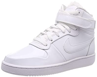 reputable site 67184 e8186 Nike WMNS Ebernon Mid Prem, Chaussures de Basketball Femme, Blanc  White-Black 101