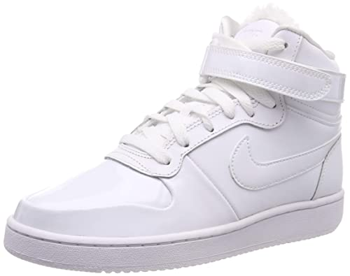 the latest f0934 55215 Nike Women s Damen Sneaker Ebernon Mid Premium Hi-Top Trainers, White-Black  101