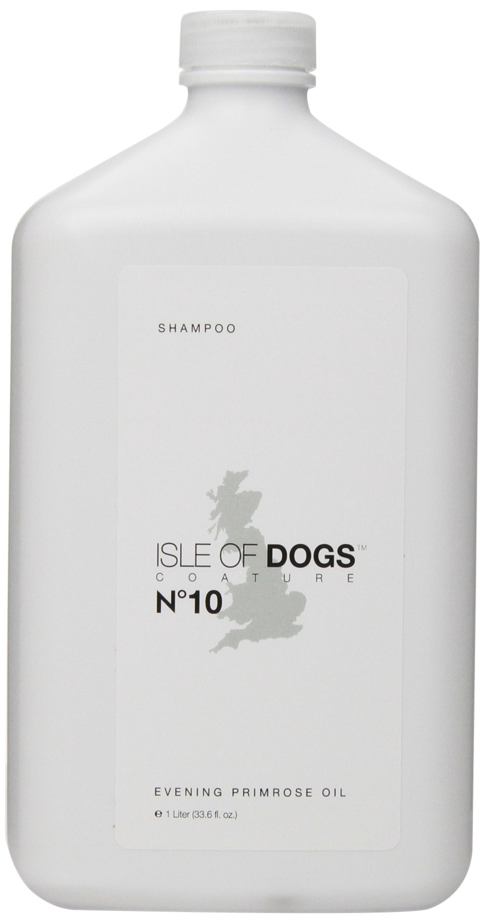Isle of Dogs Coature No. 10 Evening Primrose Oil Dog Shampoo for Dry and Sensitive Skin, 1-Liter by Pawfectchow
