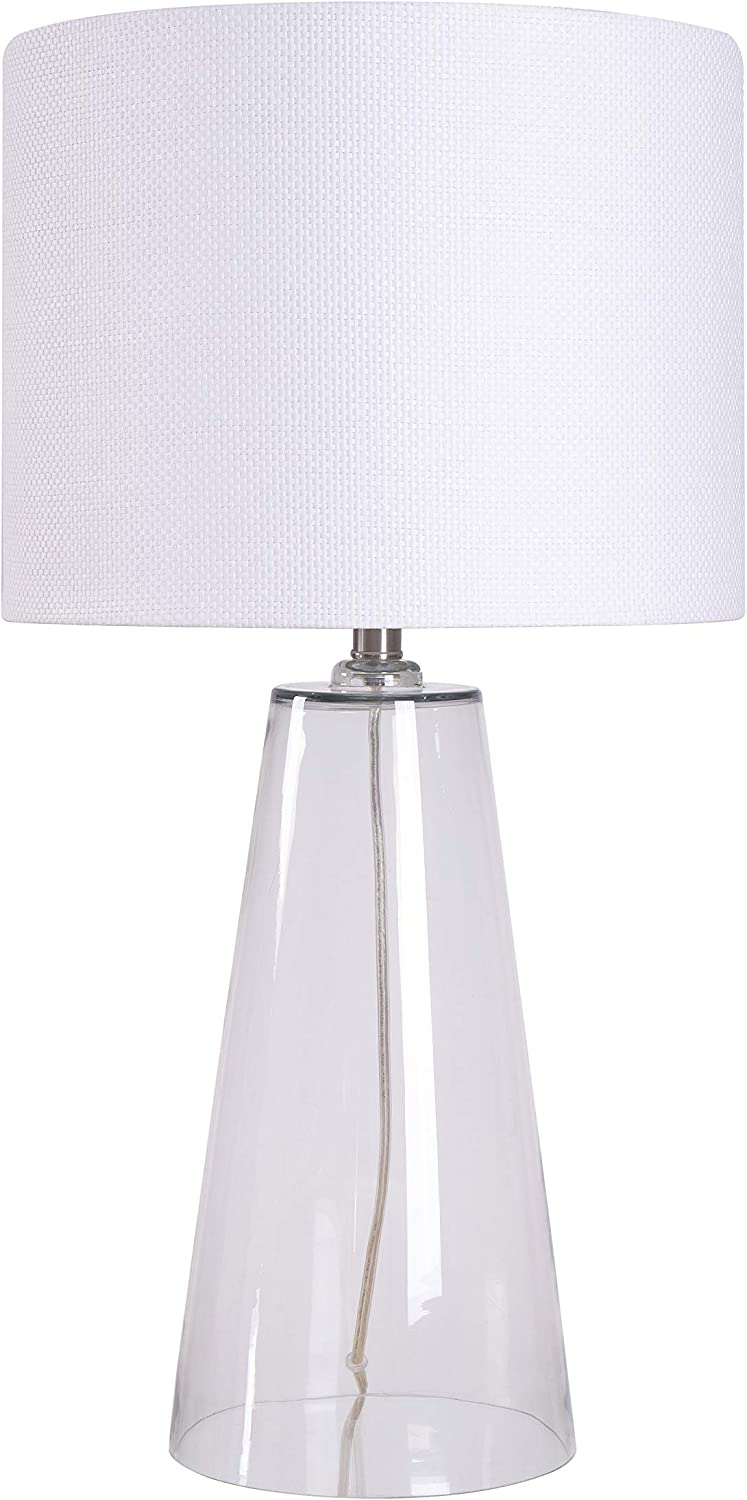 Kenroy Home 32062CL Boda Rustic Table Lamp,29.5 Inch Height, 15 Inch Diameter with Clear Glass Finish, 29 Inch