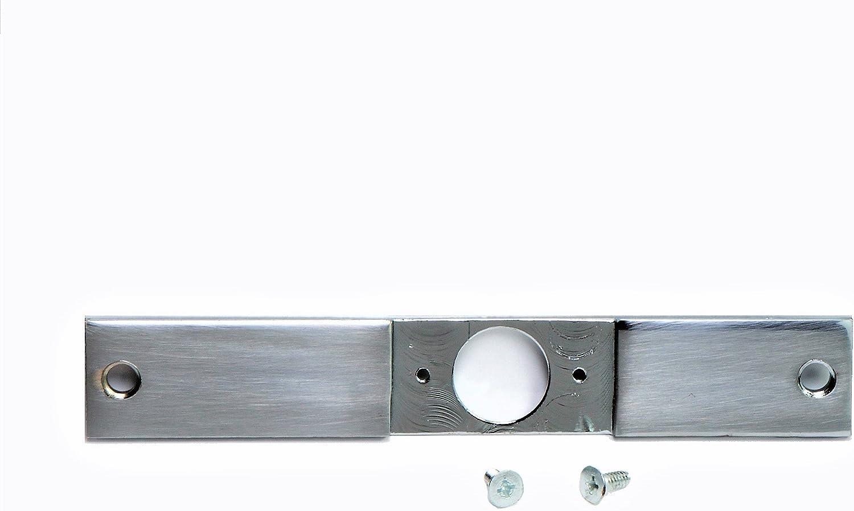 Don Jo EL-86 Mortise lock conversion Plate Sliver Coated