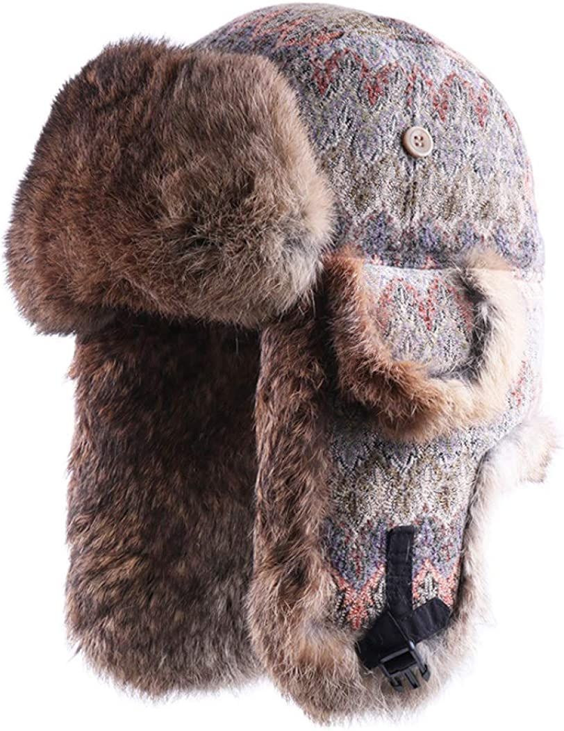 Genuine Rabbit Fur Russian...