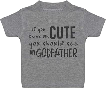 Threadrock Baby Girls Will You Be My Godfather Infant T-Shirt