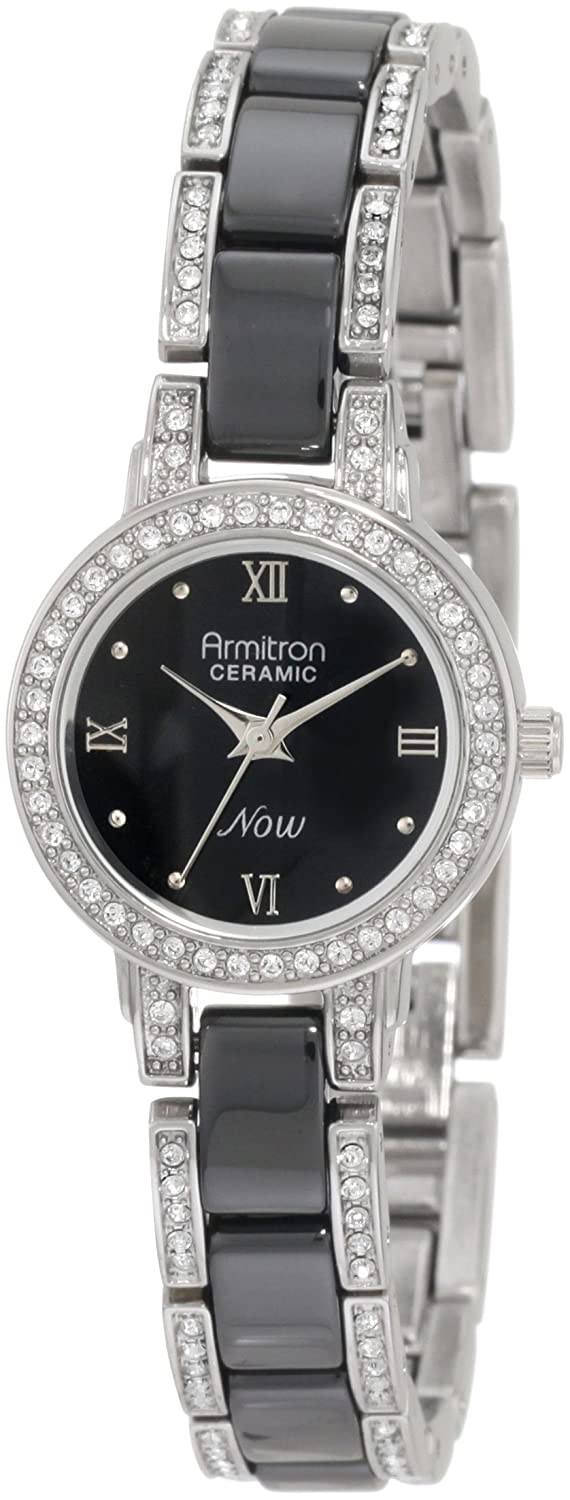 Amazon.com: Armitron Women\'s 75/3919BKSV Swarovski Crystal Accented ...