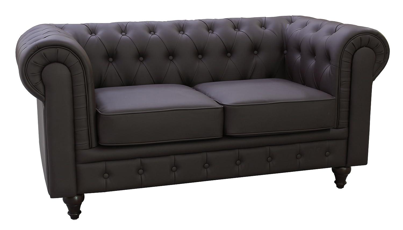 Amazon.com: US Pride Furniture S5069-L Bonded Leather Chesterfield ...