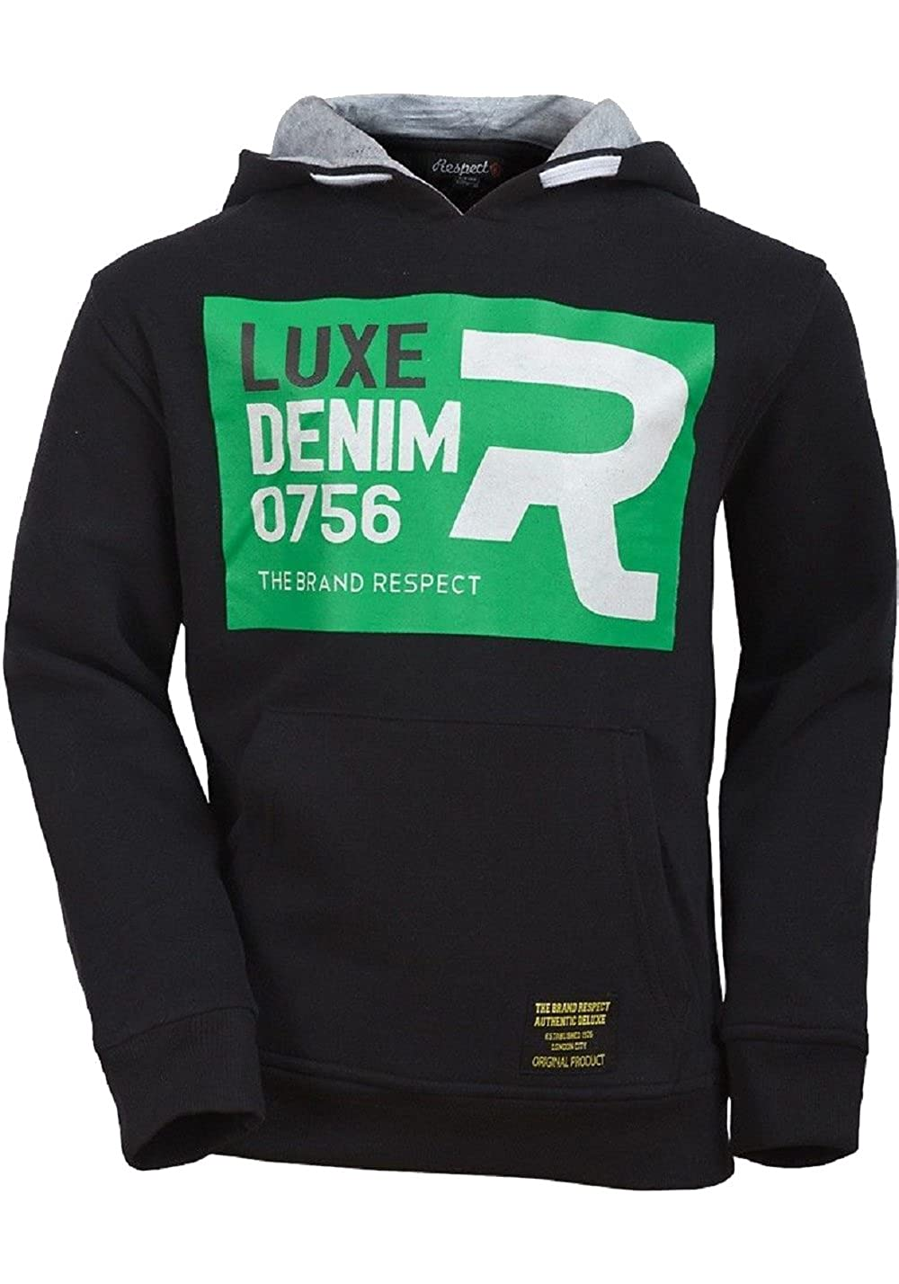 Respect Boys Luxe Fleece Lined Hooded Top Age 7-8,9-10,11-12 Y