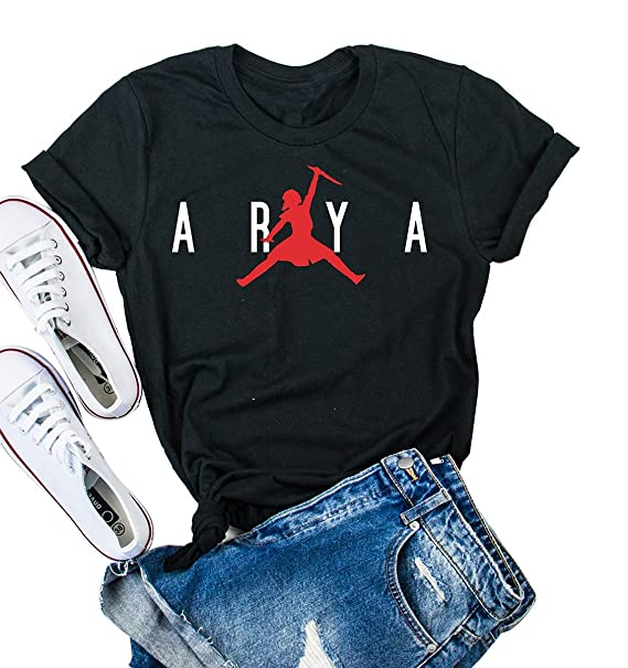 e1d3658ea21855 Arya Jordan Shirt Graphic Tees for Women Short Sleeve Tops at Amazon  Women s Clothing store
