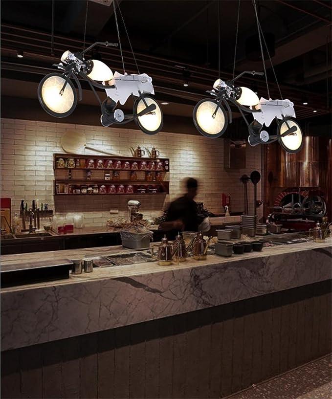 Lámpara de techo industrial creativo Personalità Decoración Moto ...