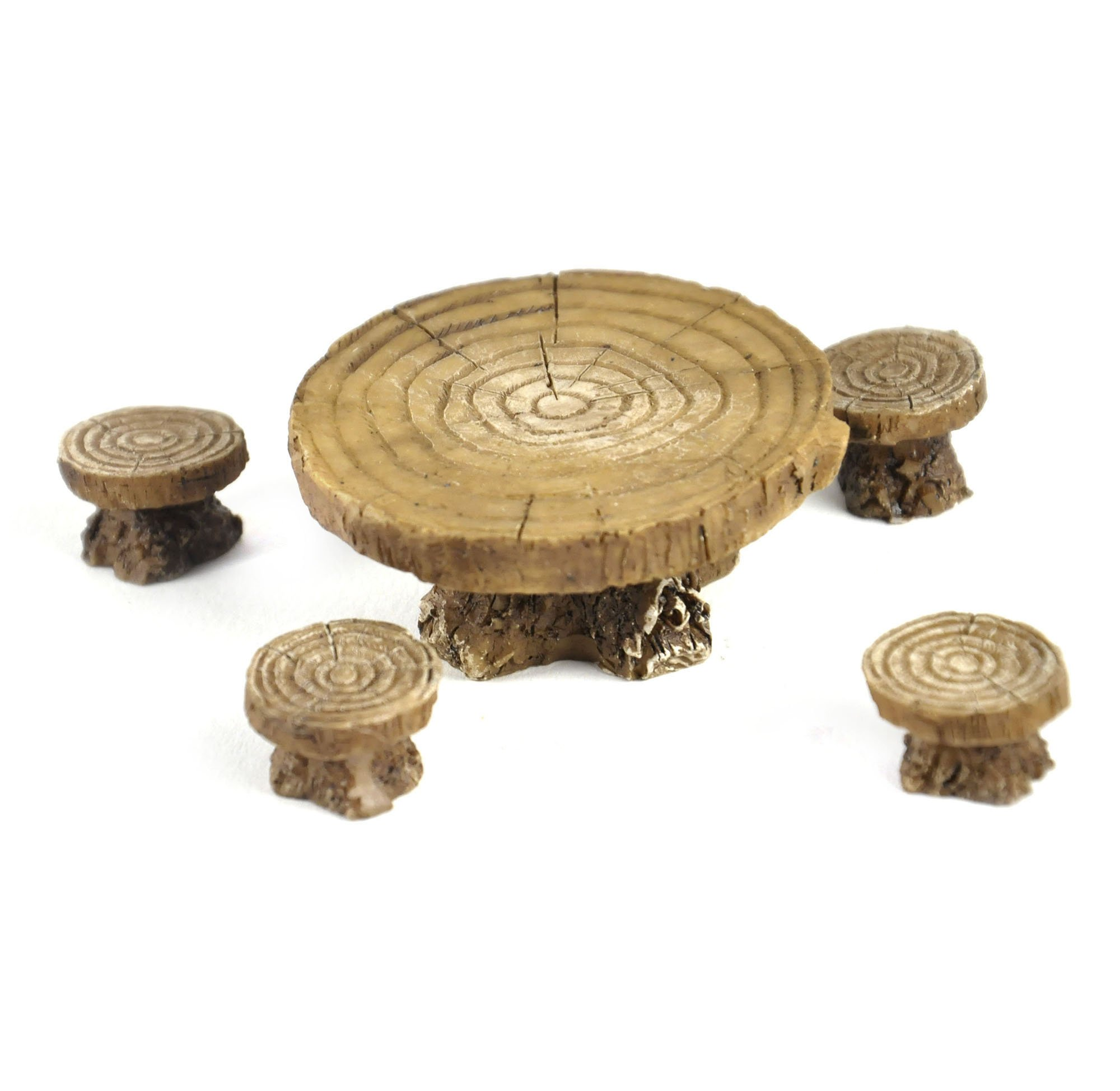 Georgetown Woodland Table and Stool Set - Fiddlehead Fairy Garden Collection
