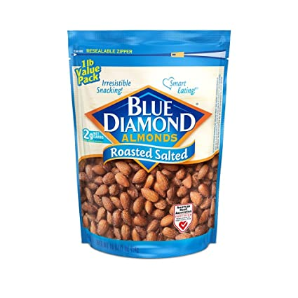 Blue Diamond Gluten Free Almonds, Roasted Salted, 16 Ounce