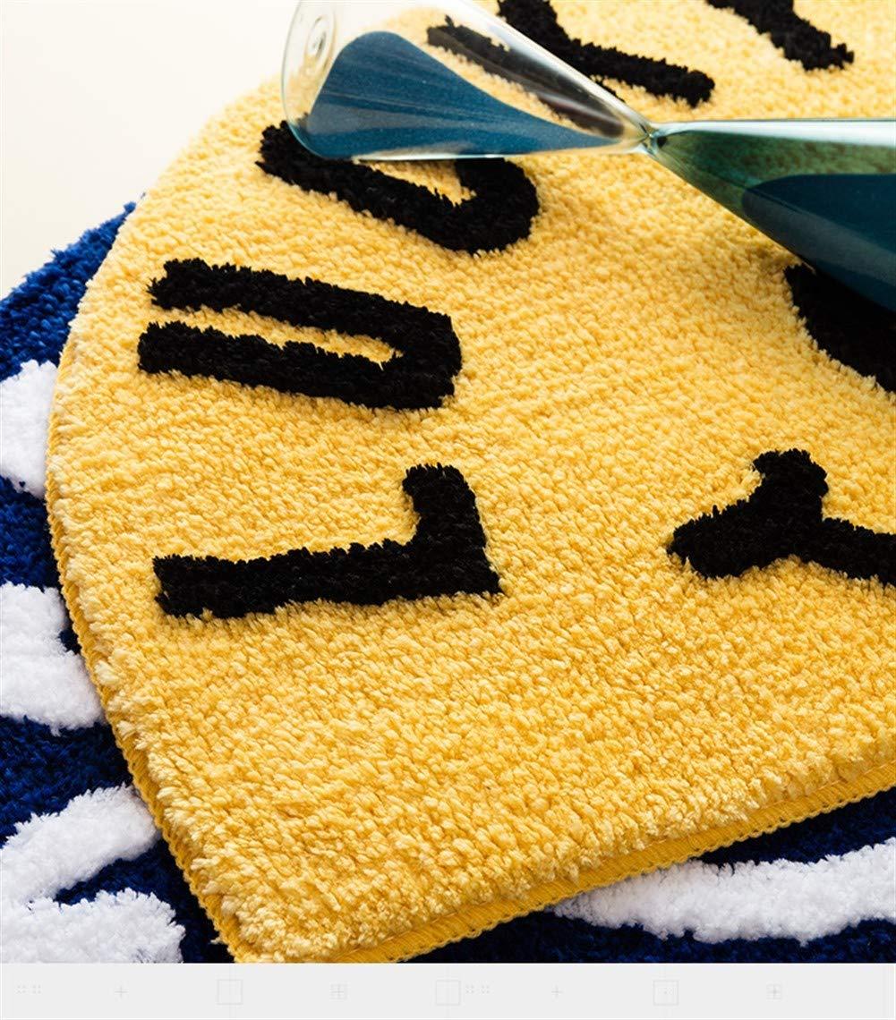 Lavable para Atrapar Suciedad para Recibidor Color : Blue FCS Bathroom Felpudo de Entrada de Casa Semicircular Alfombras Entrada Casa Tapete Interior Antideslizante Impermeable