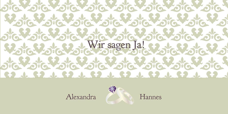 Kartenparadies Hochzeitskarte Einladung Ornament mit mit mit Herz, hochwertige Einladung zur Heirat inklusive Umschläge   10 Karten - (Format  215x105 mm) Farbe  Rosadunkellila B01N9TWTYQ   Bestellung willkommen    Zu einem niedrigeren Preis    Maßstab ist 3e2c84