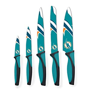 Sports Vault NFL Miami Dolphins Kitchen Knives