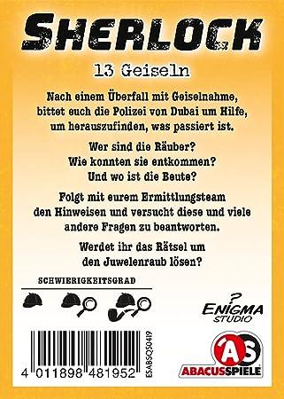 SHERLOCK Kartenspiel 13 GEISELN Abacusspiele OVP