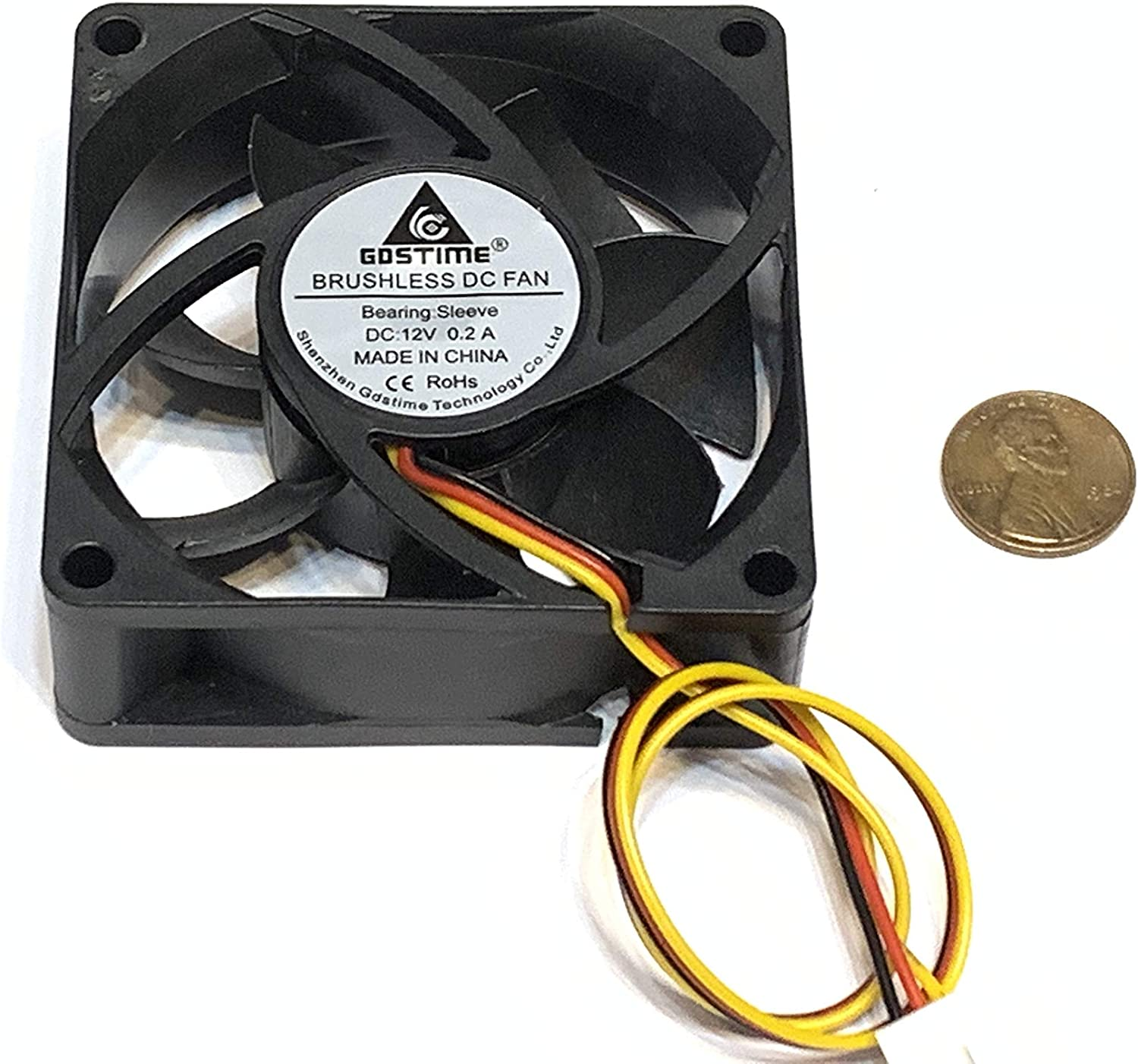 4 pieces 7025 GDStime 7cm 70mm DC 12v Brushless Cooling 3pin Blower Fan A34